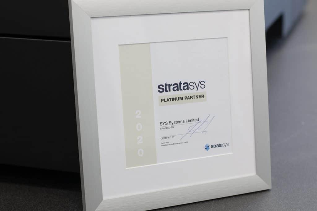 SYS UK Platinum certificate