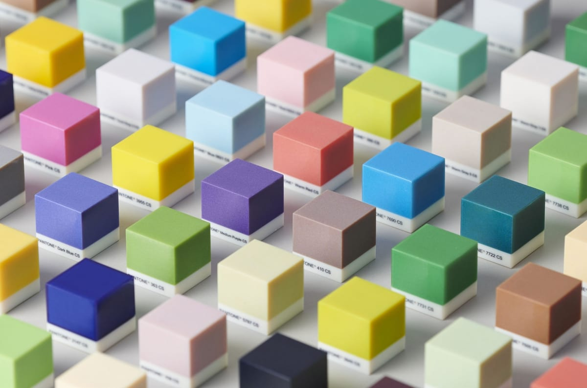 Pantone verified colours printed with PolyJet technology by Stratasys
