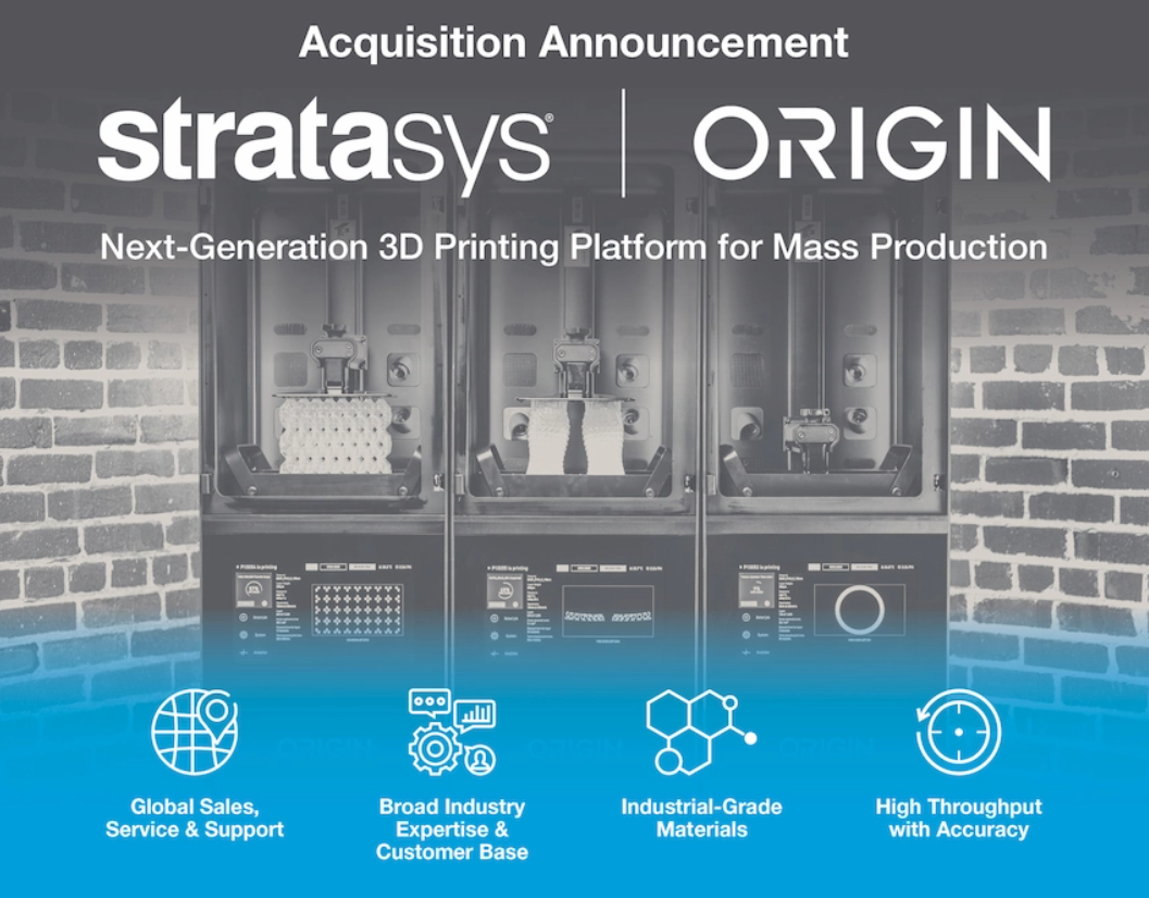 Origin 3D printing is acquired by stratasys