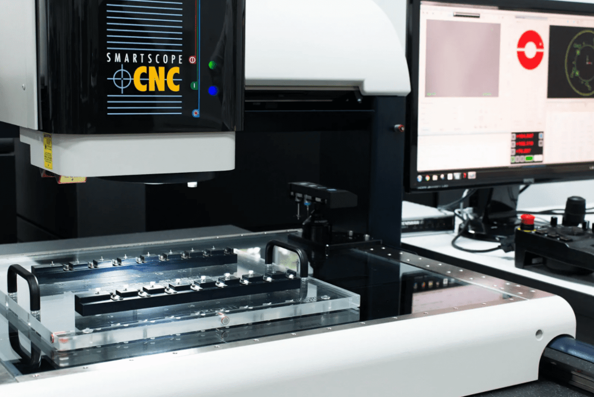 OGP CNC Smartscope performing metrology subcontracting services